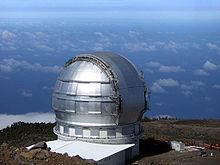 Die Kuppel des Gran Telescopio Canarias (GTC) auf La Palma